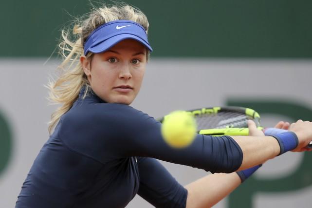 La Québécoise Eugenie Bouchard a battu l'Allemande Laura... (Associated Press)