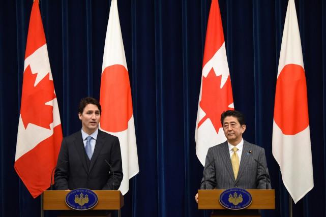 Le premier ministre du Canada Justin Trudeau aux... (Photo Toru Yamanaka, AP)