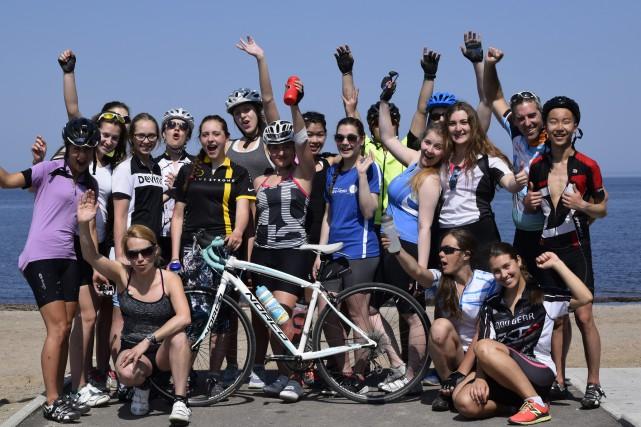 Ces jeunes participants Au tour des jeunes Desjardins... (Photo courtoisie)