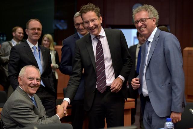 Les ministres de la zone euro se sont... (PHOTO REUTERS)