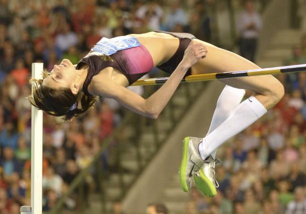La championne du saut en hauteur Anna Chicherovaa... (AP, Geert Vanden Wijngaert)