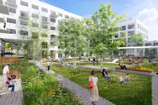 La phase 2 du projet de Technopôle Angus... (Photo SDA et Provencher-Roy)