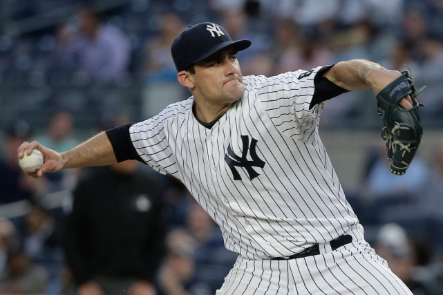 Le partant des Yankees Nathan Eovaldi a signé un... (Photo Julie Jacobson, AP)