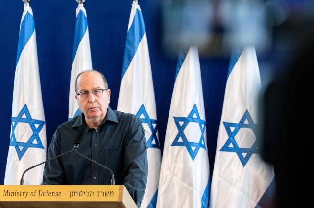 Vendredi dernier, Moshe Ya'alon, ministre de la Défense... (PHOTO JACK GUEZ, AGENCE FRANCE-PRESSE)