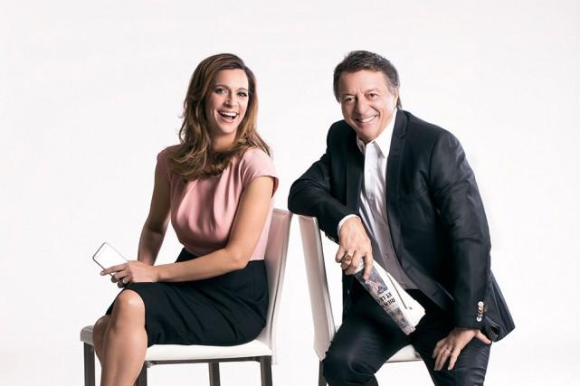 L'émissionDéjà dimanche, animée par Marie-Soleil Michon et Jean-Luc... (fournie par ICI Radio-Canada)