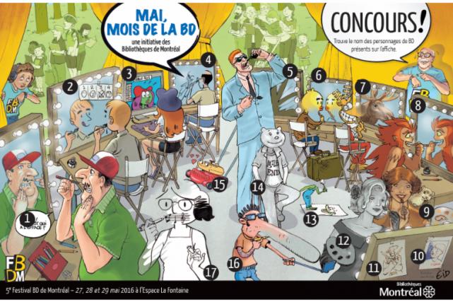 Les Montréalais ont jusqu'à la fin du mois... (Illustration de Jean-Paul Eid fournie par les bibliothèques de Montréal)