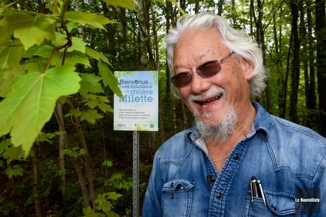 L'environnementaliste David Suzuki était de passage à Trois-Rivières... (François Gervais, Le Nouvelliste)