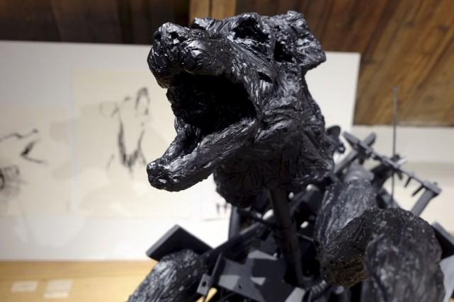 Oeuvre de Charles Thibaudeau, finissant en sculpture... (Marie-Fauve Bélanger)