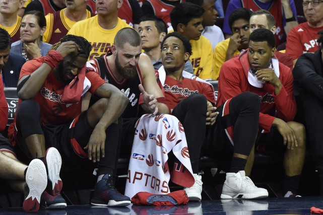 Les Raptors se sont inclinés 116-78.... (Photo Frank Gunn, La Presse Canadienne)