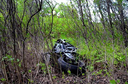 Le motocycliste a perdu la maîtrise de sa... (Photo collaboration spéciale, Éric Beaupré)