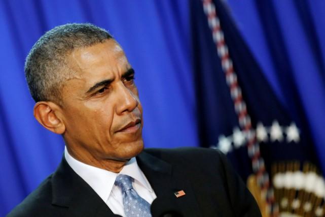 Le président américain, qui a par le passé... (PHOTO CARLOS BARRIA, REUTERS)
