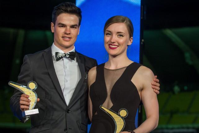 Mikaël Kingsbury etJustine Dufour-Lapointe sont les athlètes de... (Photo fournie par Thierry du Bois,Cosmos Image)
