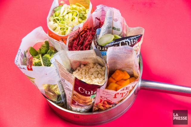 L'engouement des clients pour les légumes prêts à... (PHOTO HUGO-SÉBASTIEN AUBERT, LA PRESSE)