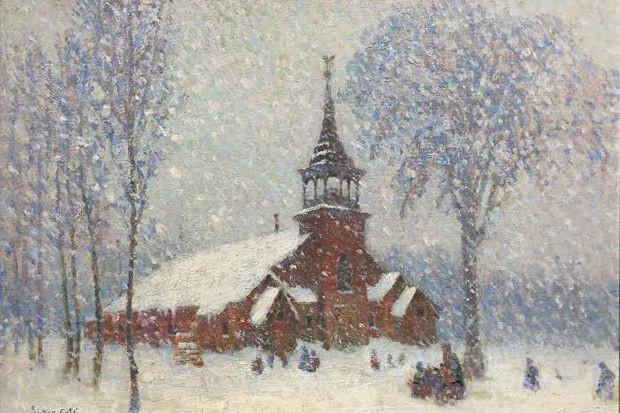 La peinture de Suzor-Côté intituléeLa vieille église de... (Archives)