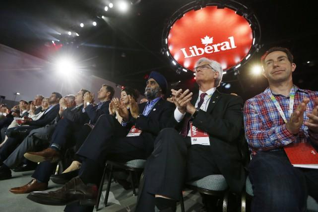 Le congrès des libéraux a officiellement débuté jeudi... (Photo John Woods, La Presse Canadienne)
