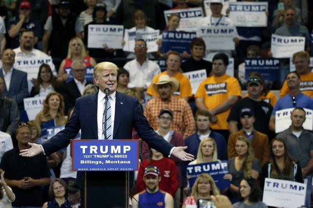 Le candidat républicain à la présidentielle américaine, Donald... (Photo Brennan Linsley, AP)