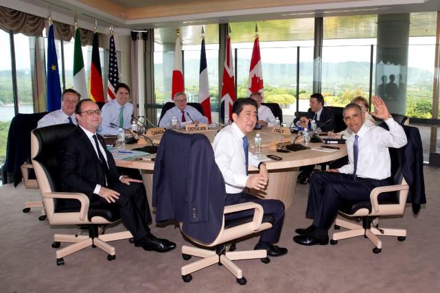 Les dirigeants du G7 estiment que «la croissance... (Photo Carolyn Kaster, Reuters)