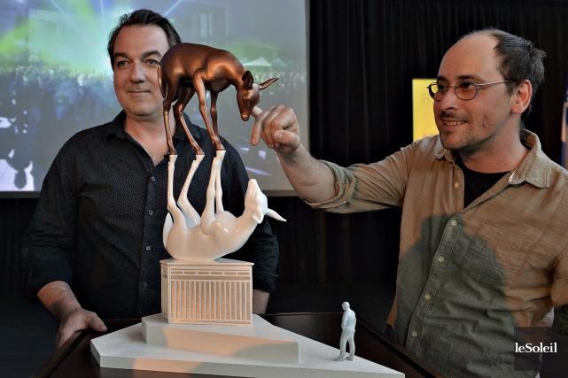 Le travail de Jean-François Cooke et de Pierre... (Photothèque Le Soleil, Patrice Laroche)