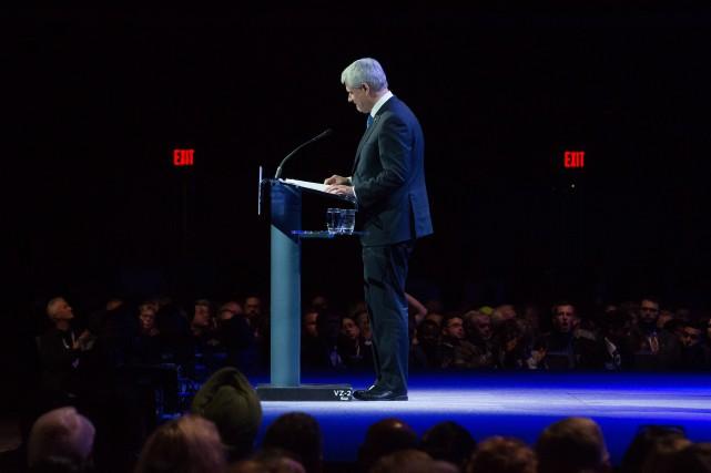 L'ex-premier ministre du Canada, Stephen Harper... (Photo Darryl Dyck, La Presse Canadienne)