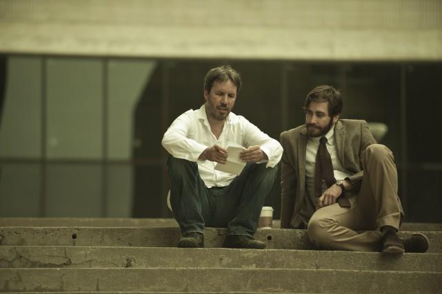 Le réalisateur Denis Villeneuve et l'acteurJake Gyllenhaal ont... (Photo fournie par Les FilmsSéville)