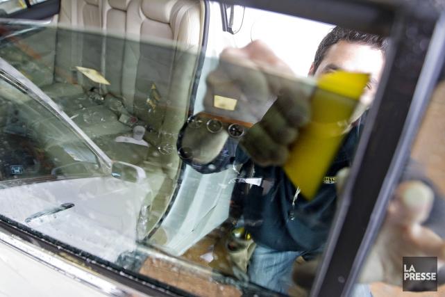 Les automobiles aux vitres trop foncées seront sous surveillance au cours des... (Archives La Presse)