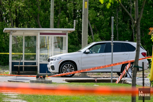 Rocco Sollecito se trouvait dans son VUS BMW blanc... (PHOTO DAVID BOILY, LA PRESSE)