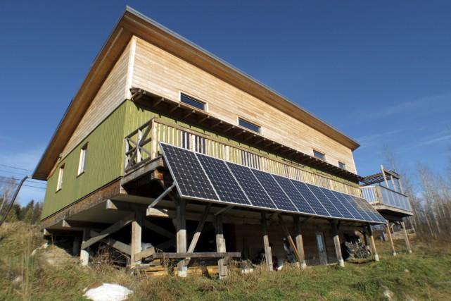 La maison durable de Kate Alvo à Portneuf,... (Fournie par Kate Alvo)