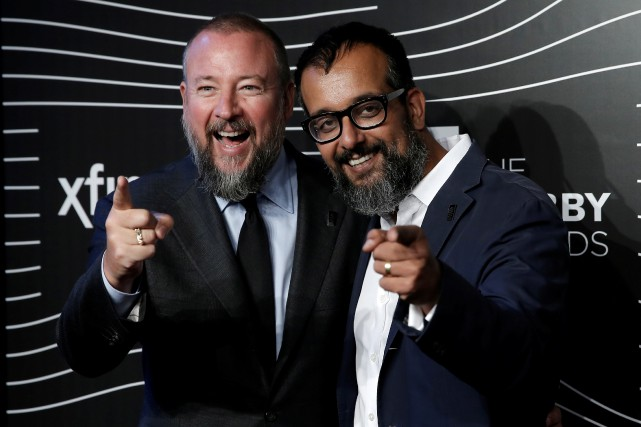 Shane Smith, Suroosh Alvi et Gavin McInnes (absent de... (photo mike Segar, reuters)