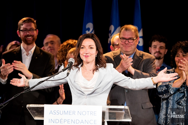 La candidate à la direction du PQ Martine... (PHOTO ALAIN ROBERGE, LA PRESSE)