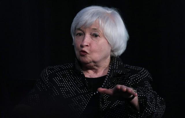 La présidente de la banque centrale américaine (Fed)... (Archives AP)