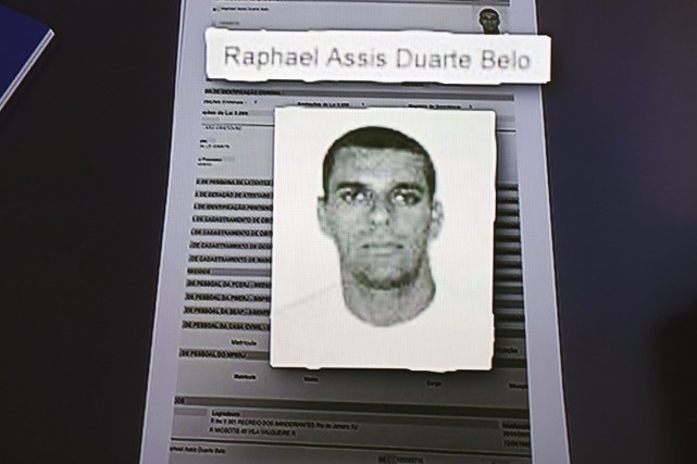 La police brésilienne fait circuler cette photo deRaphael... (AFP, Vanderlei Almeida)