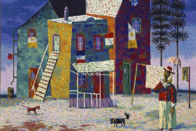La (Le) Propriétaire, Jean Dallaire, 1953, huile sur... (Musée national des beaux-arts du Québec; don de Roslyn Klein)