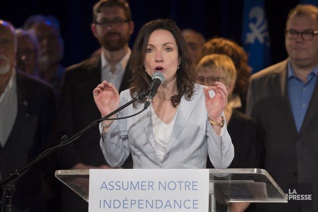 En annonçant sa candidature, Martine Ouellet s'est clairement... (La Presse Canadienne, Graham Hughes)