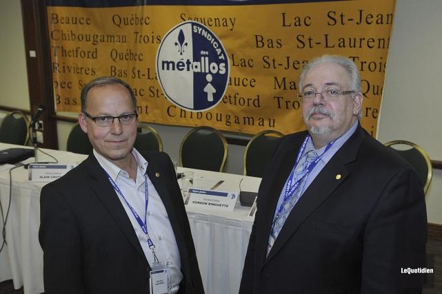 Alain Croteau, directeur du Syndicat des Métallos pour... (Photo Le Quotidien, Rocket Lavoie)