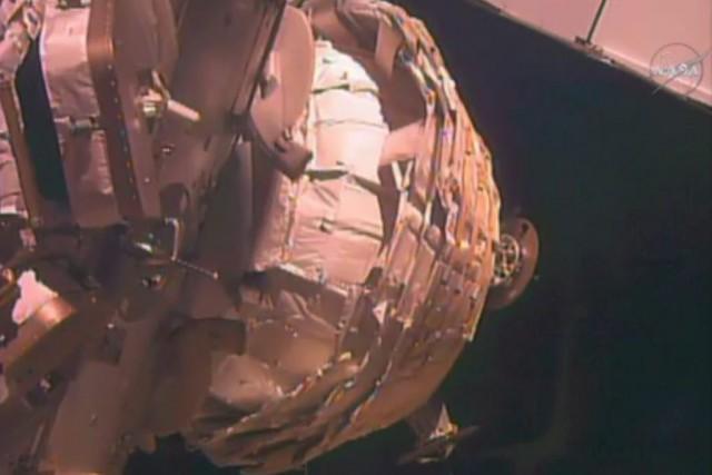 Le Bigelow Expandable Activity Module en voie d'être... (Photo NASA)