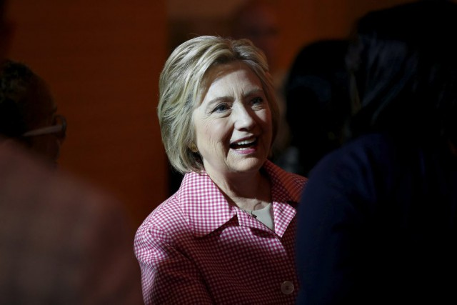 Hillary Clinton... (PHOTO STEPHEN LAM, ARCHIVES REUTERS)