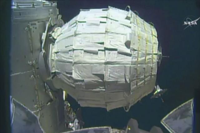 Un module gonflable tel que le Beam,plus léger... (Fournie par la NASA)