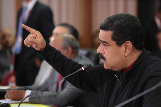 Le président Nicolas Maduro subit des pressions internationales... (PHOTO REUTERS/GOUVERNEMENT DU VENEZUELA)