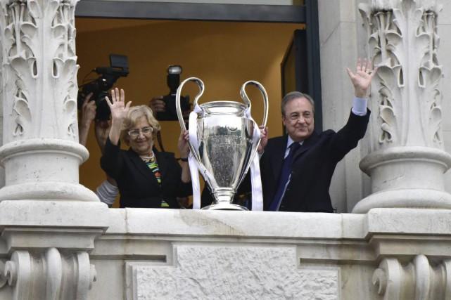 Le président du Real Madrid Florentino Perez a dédié dimanche la onzième... (Photo AFP)
