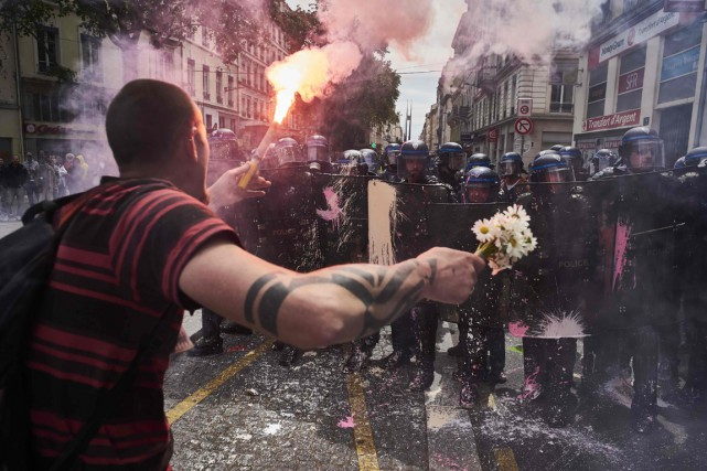 Une manifestation à Lyon, le 26 mai.... (Photo AFP)