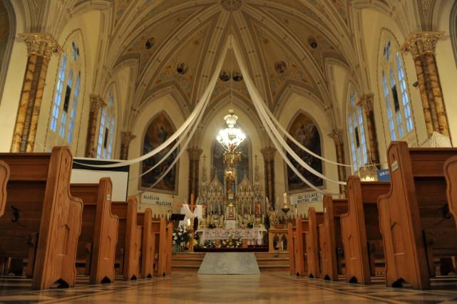 L'église de Sainte-Anne-de-la-Pérade.... (Stéphane Lessard)