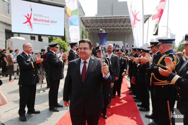 En juillet dernier, le maire de Montréal Denis... (Photo Martin Chamberland, archives La Presse)