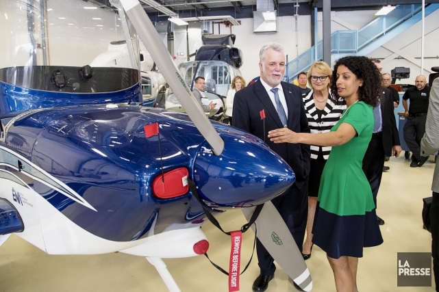 Ce matin, la ministre de l'ÉconomieDominique Anglade et... (PHOTO ALAIN ROBERGE, LA PRESSE)