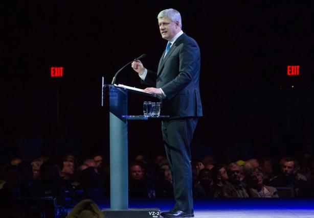 «Après des mois de mutisme, Stephen Harper s'est... (Photo Darryl Dyck, La Presse Canadienne)