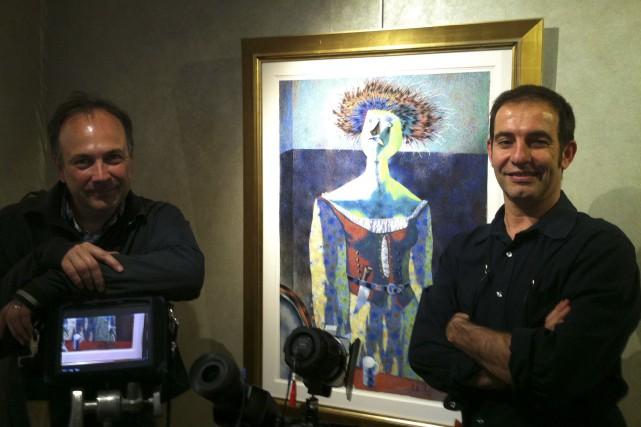 Le réalisateur Guilhem Rondot (à droite) et Pierre-Frédéric... (Courtoisie)