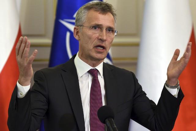 Le secrétaire général de l'OTAN, Jens Stoltenberg... (AFP, Janek Skarzynski)