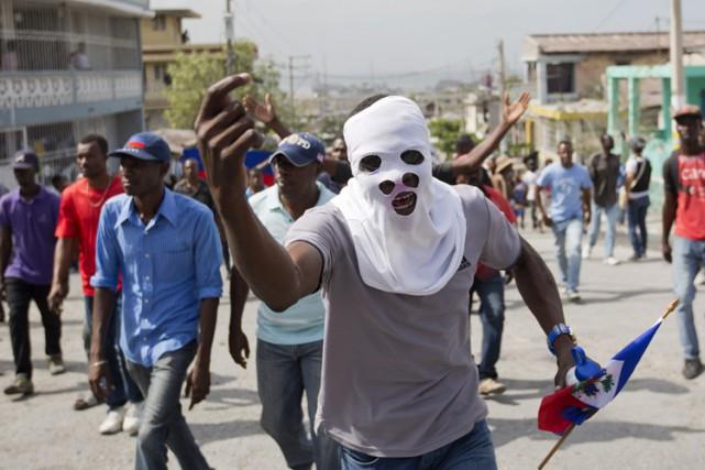 Haïti est plongé dans une crise politique profonde... (PHOTO AP)
