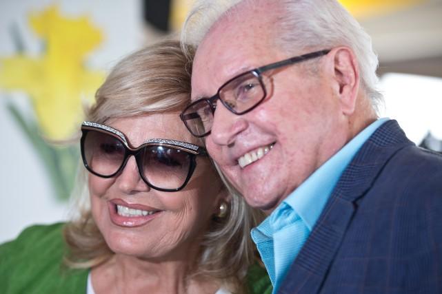 Michèle Richard et Serge Laprade se retrouvent après... (PHOTO OLIVIER JEAN, LA PRESSE)