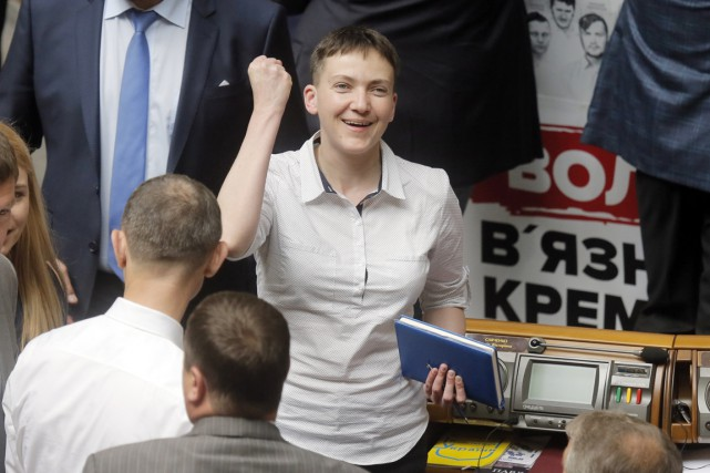 «Je suis députée de l'Ukraine. Je suis rentrée... (PHOTO Efrem Lukatsky, AP)