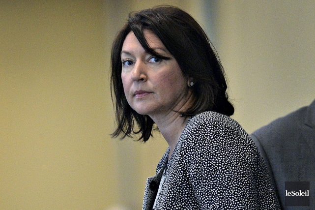 L'ex-animatrice du FM93, Nathalie Normandeau au tribunal mardi.... (Photothèque Le Soleil, Patrice Laroche)